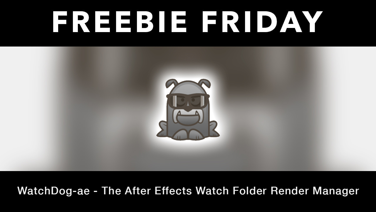 Freebie: After Effects: WatchDog-ae Render Manager for After Effects