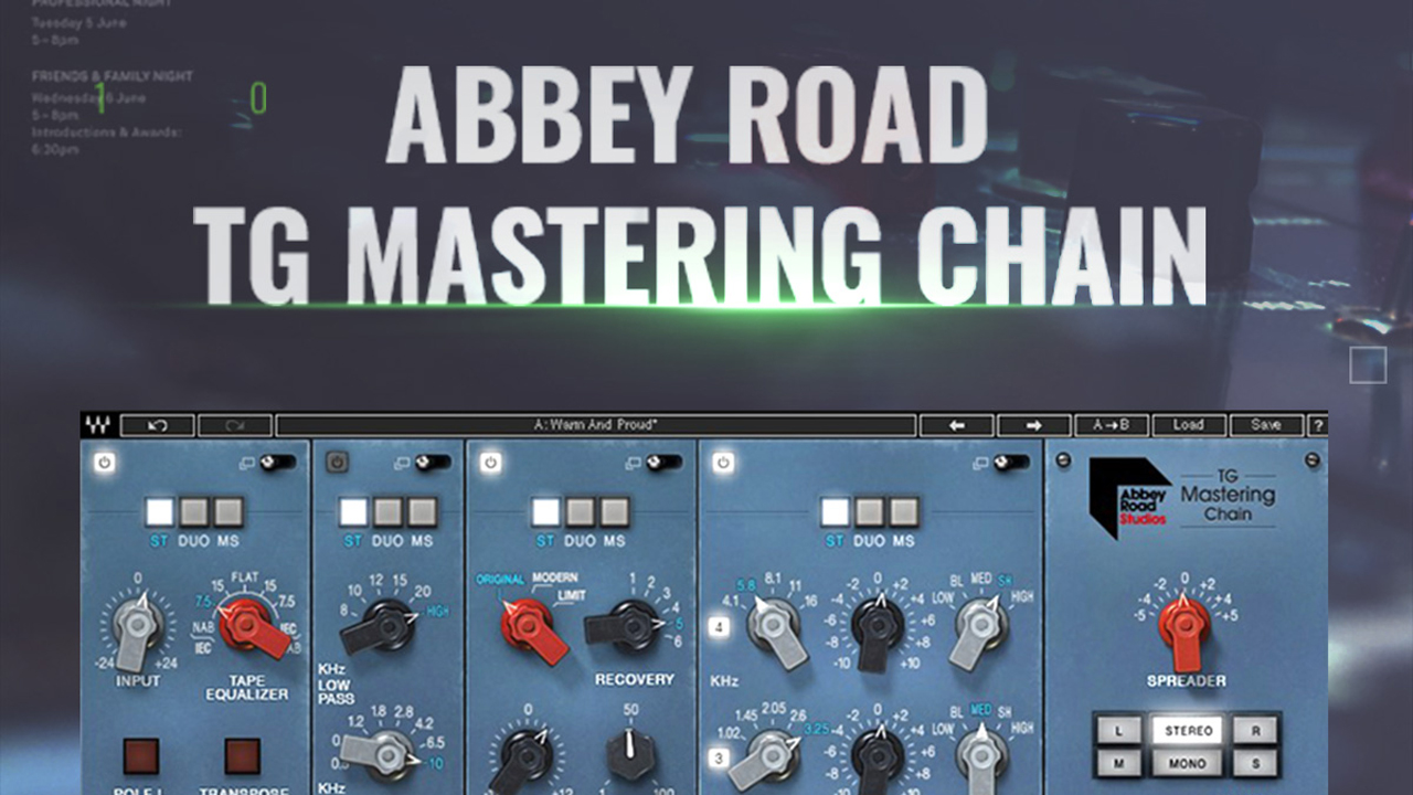 New/Sale: Waves Abbey Road TG Mastering Chain is Now Available – Limited Intro Price: 80% Off