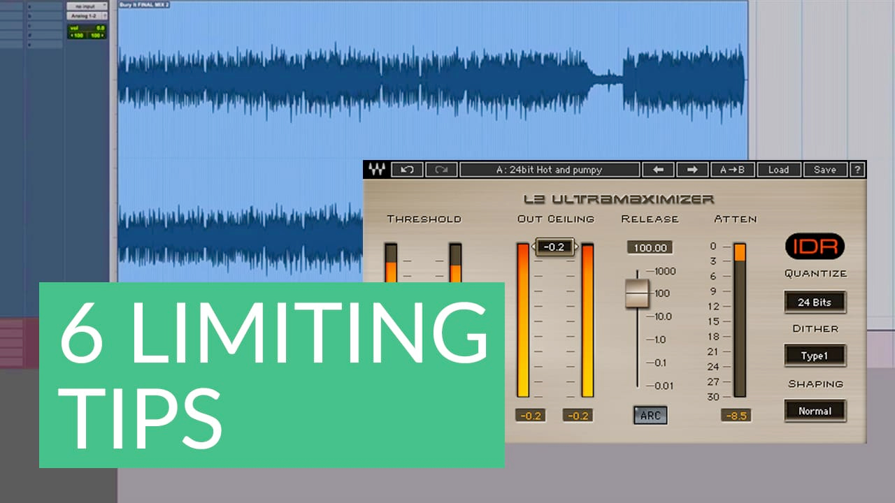 6 Tips for Limiting during Audio Mastering