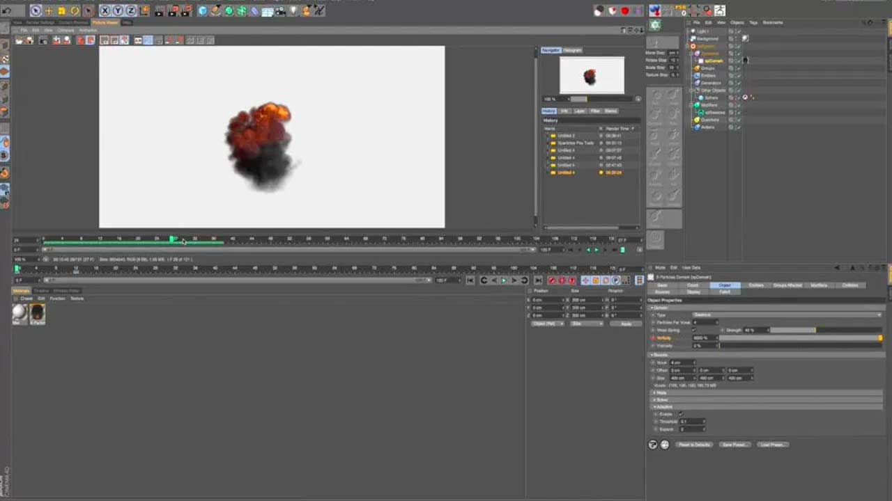 X-Particles Explosions in Cinema 4D