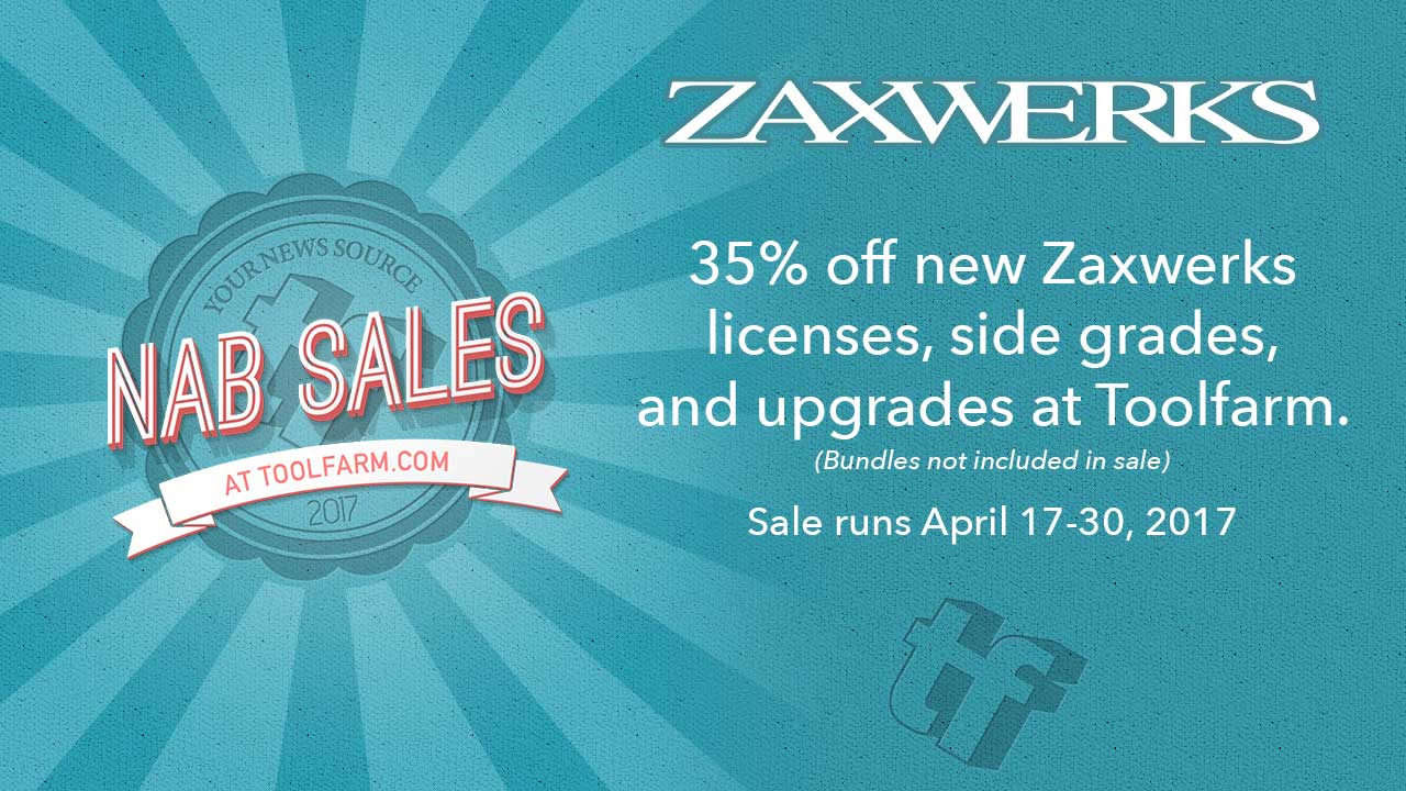 Sales: Zaxwerks NAB Sale is on!  Save 35% on Zaxwerks products
