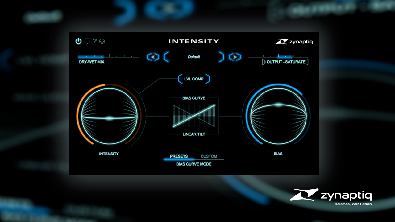 New: Zynaptiq INTENSITY is Now Available