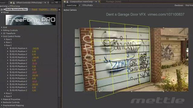 Tutorial: How to dent a Garage Door VFX with Mettle FreeForm Pro
