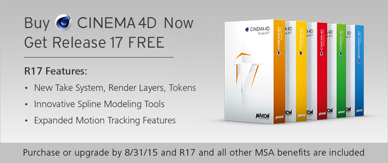 Sale Ending: Last Chance to get MAXON C4D R17 for Free - Toolfarm
