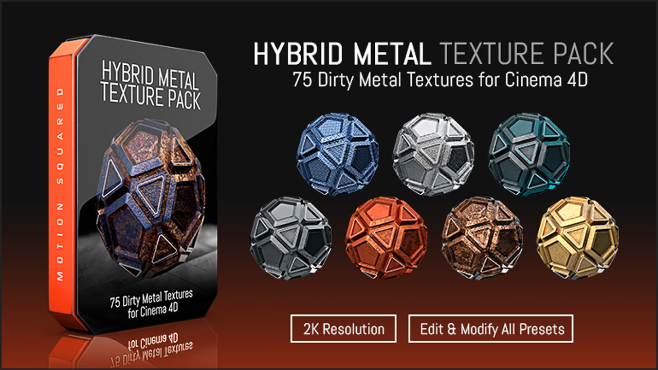 New: 5 Texture Packs for C4D from Motion Squared - Toolfarm