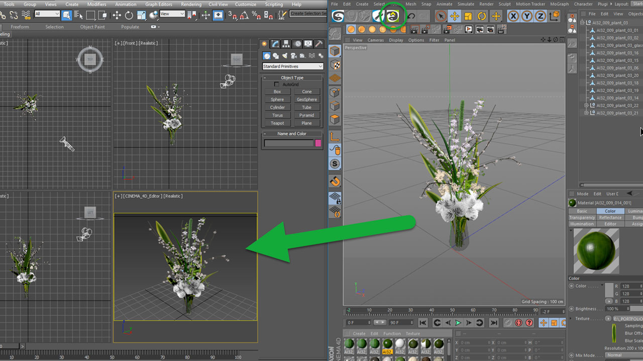 c4d to max vray