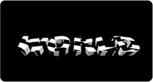 luca visual 3d text black and white 2