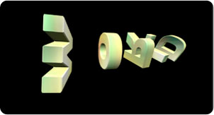luca visual 3d text smooth gradient