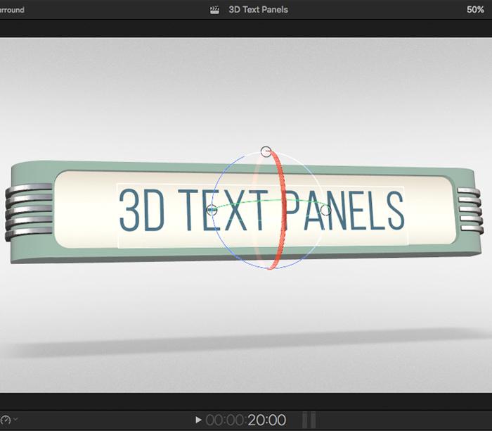 squidfx 3d text panel control