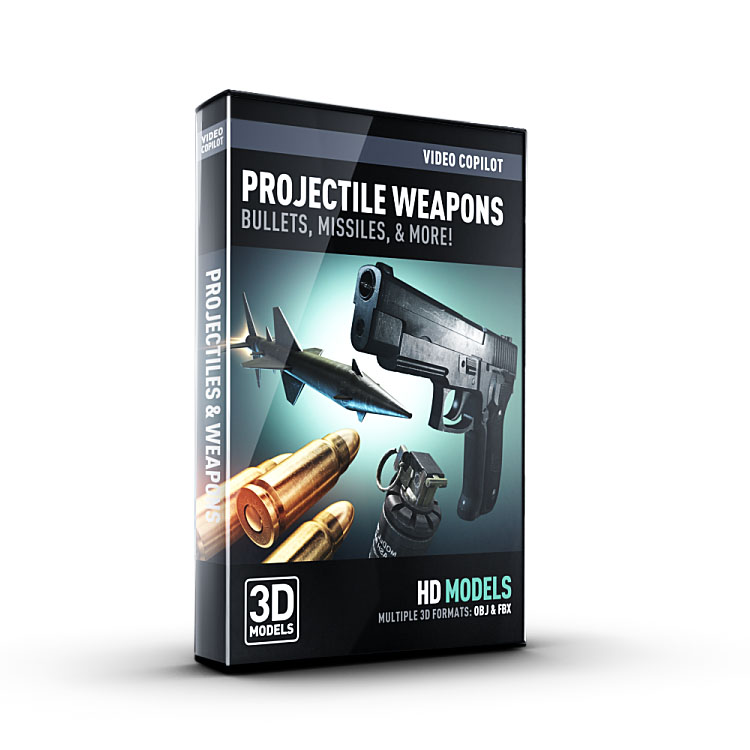 Video Copilot 3D Model Pack - Projectile Weapons