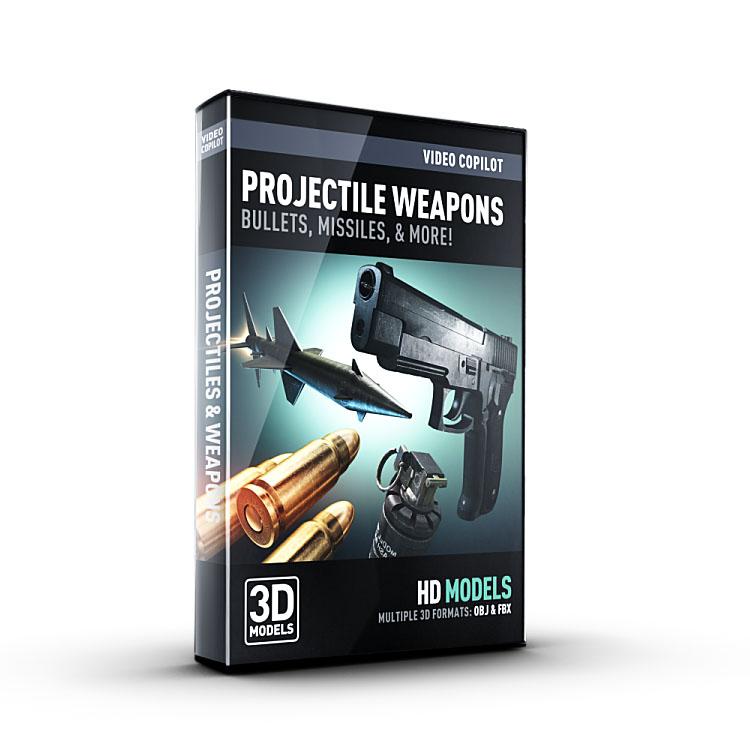 Video Copilot 3D Model Pack - Projectile Weapons