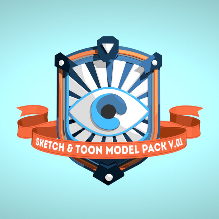 eyedesyn Sketch & Toon Model Pack for Cinema 4D
