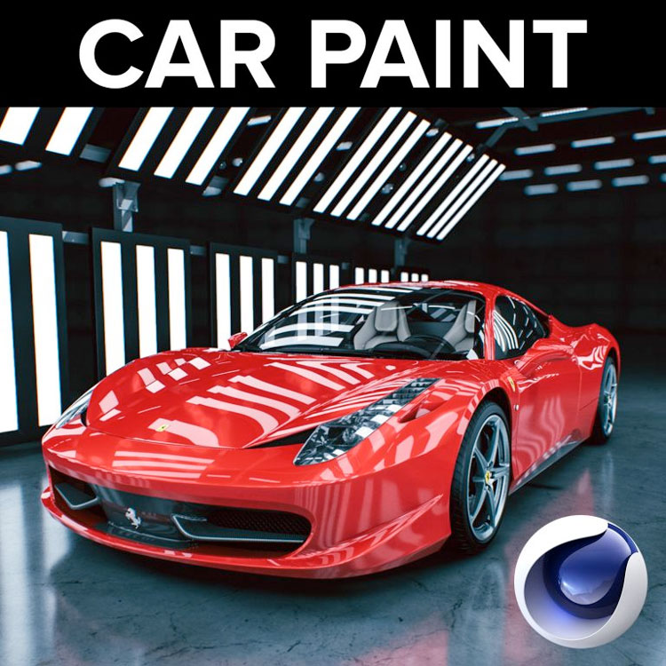 Motion Squared Car Paint for Cinema 4D