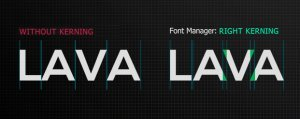 alex white font manager kerning