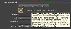 keentools geotracker focal length tracking