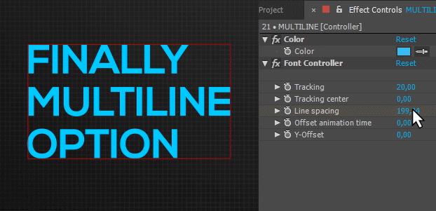 alex white font manager multiline