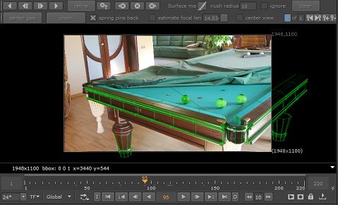 keentools geotracker scene-based camera tracking