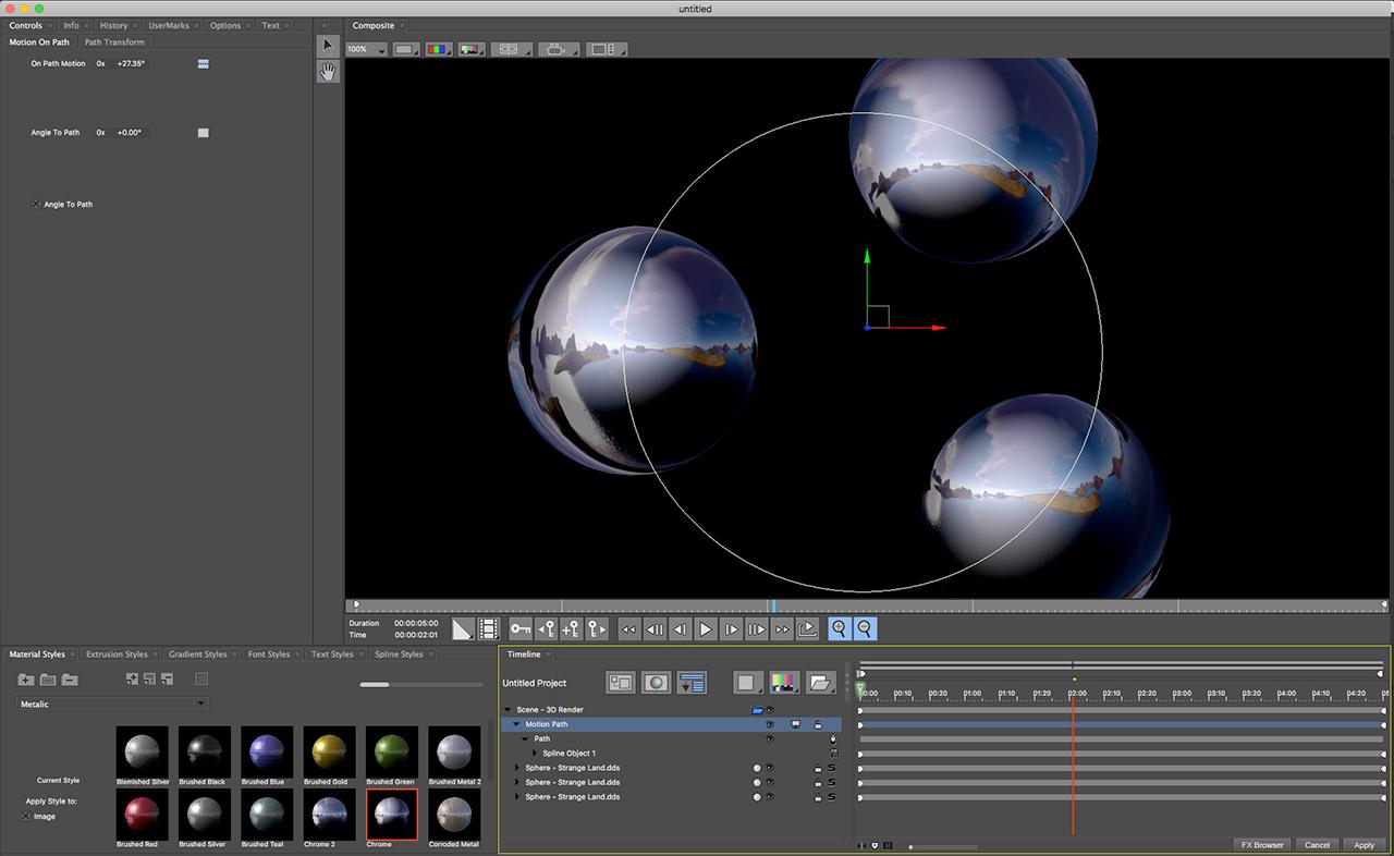boris fx title studio motion path