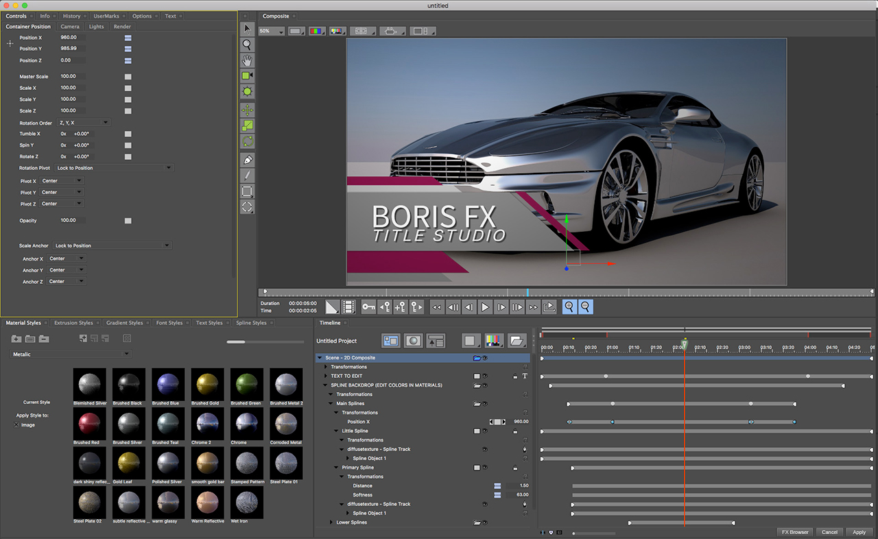 boris fx title studio trimming