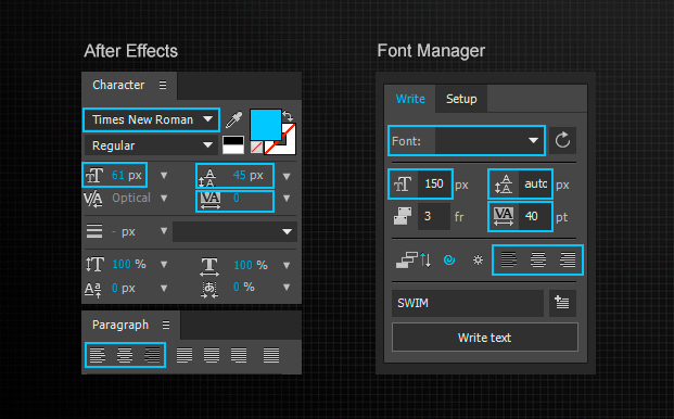 alex white font manager interface