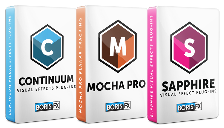 Boris FX: Sapphire, Continuum, and Mocha Pro