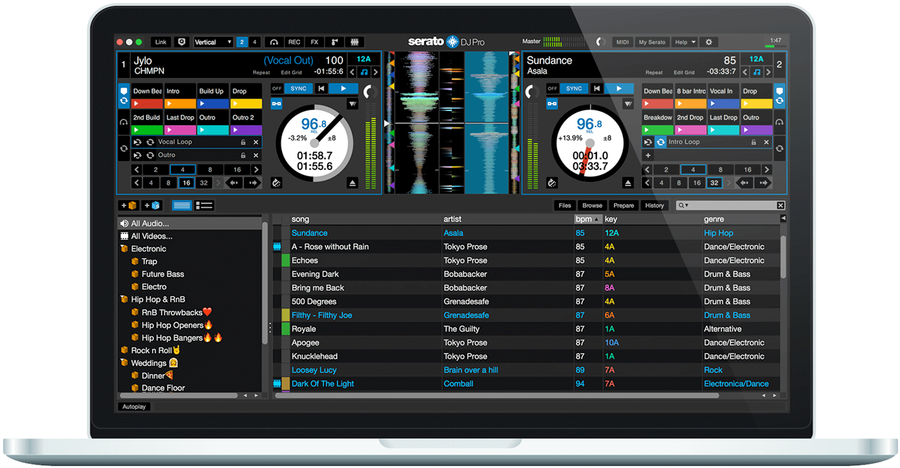 serato dj pro performance mode