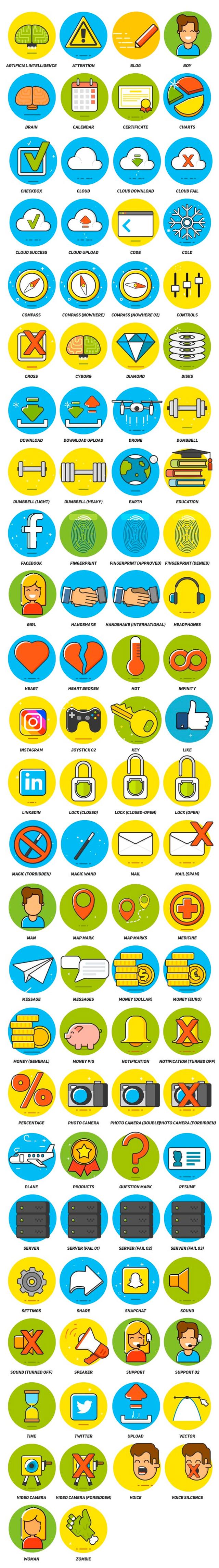 aejuice flat icons