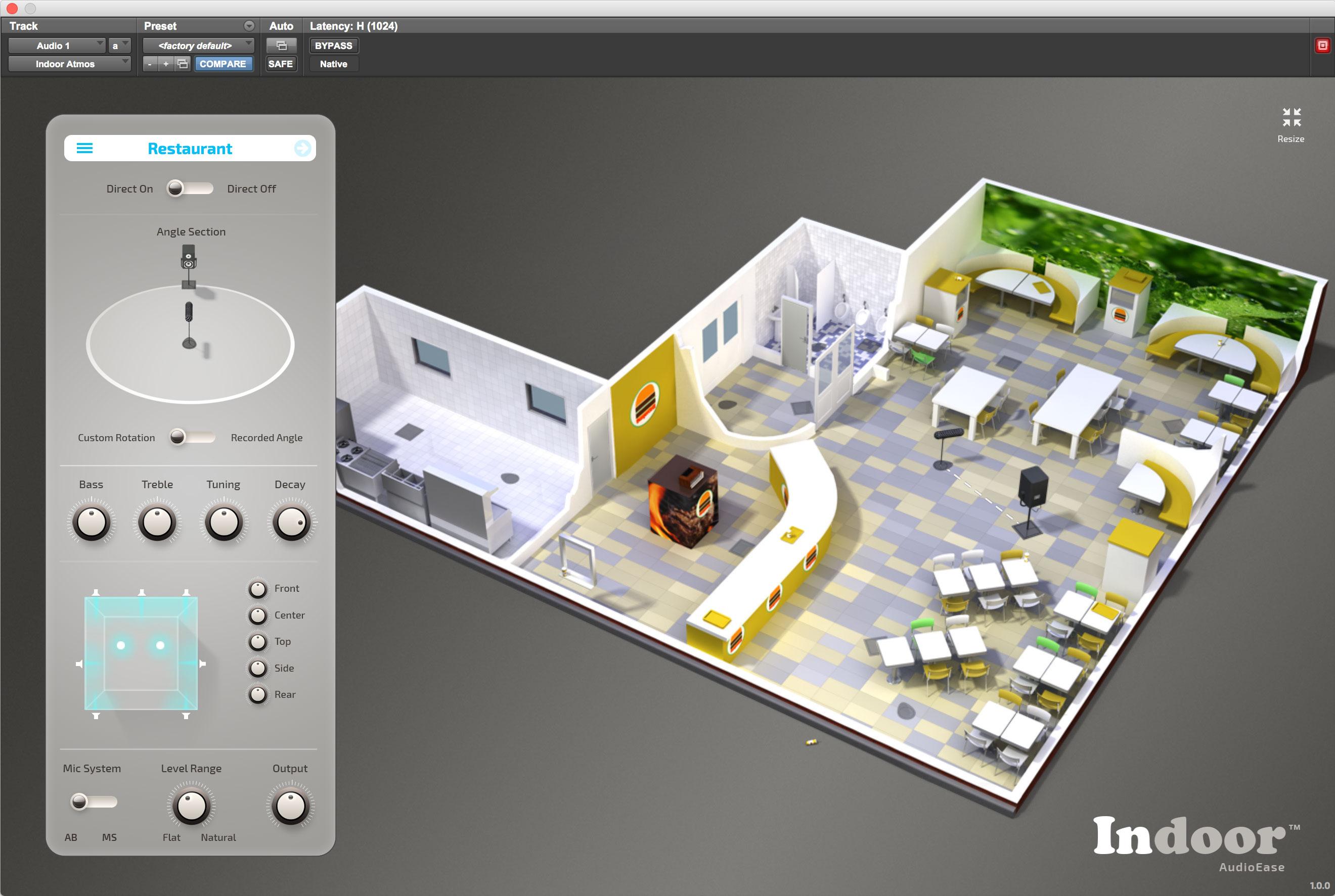 audio ease indoor restaurant acoustics