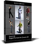 Dosch 3D: Rigged Humans for Cinema 4D
