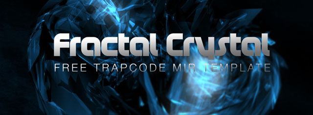 Freebie: Trapcode Mir Template – Fractal Crystal from VFXER