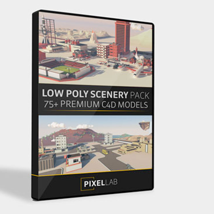 The Pixel Lab Low Poly Scenery Pack for Cinema 4D