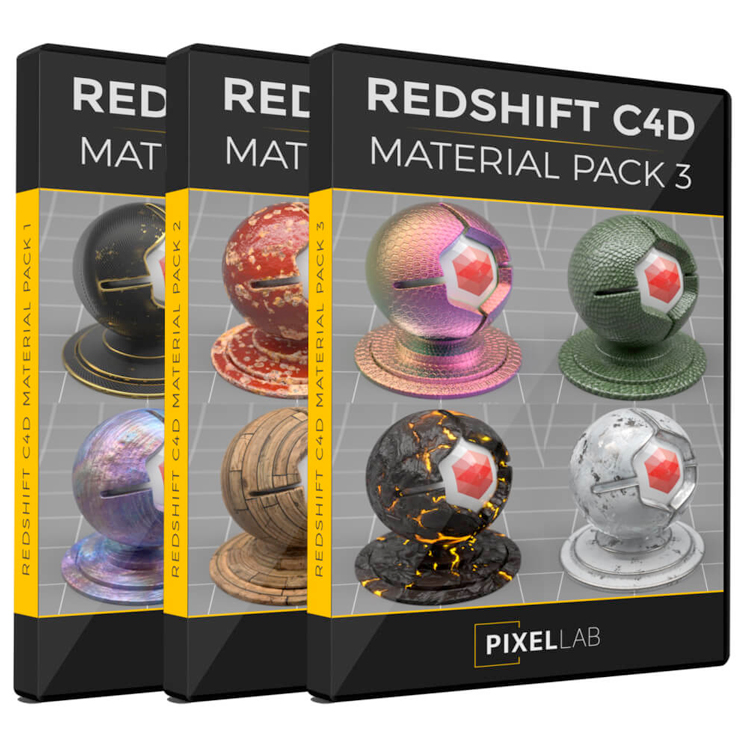 The Pixel Lab Redshift C4D Material Bundle