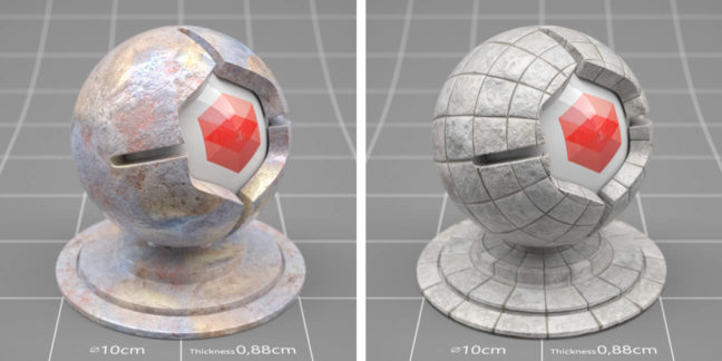 redshift material pack sample