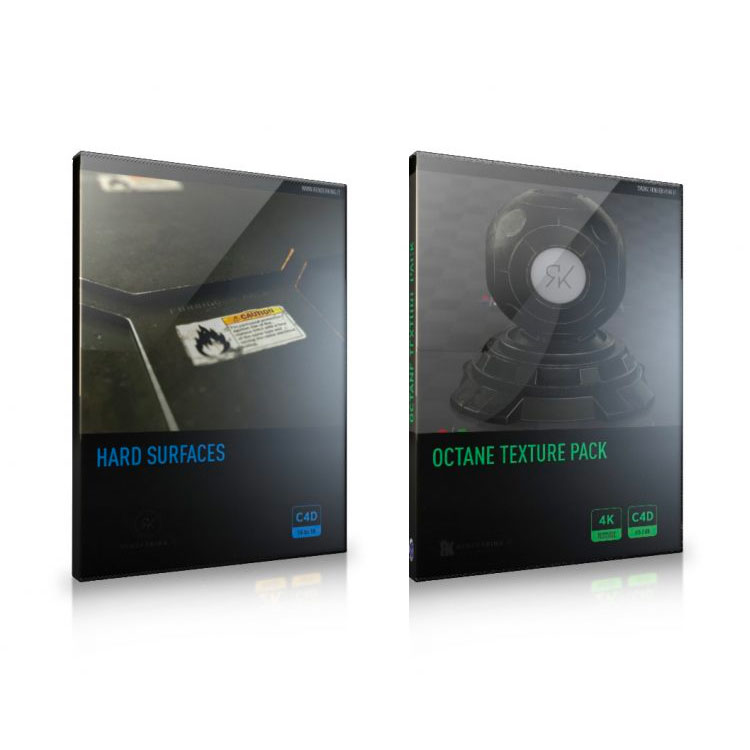 RenderKing Octane Texture Pack + Hard Surfaces Bundle