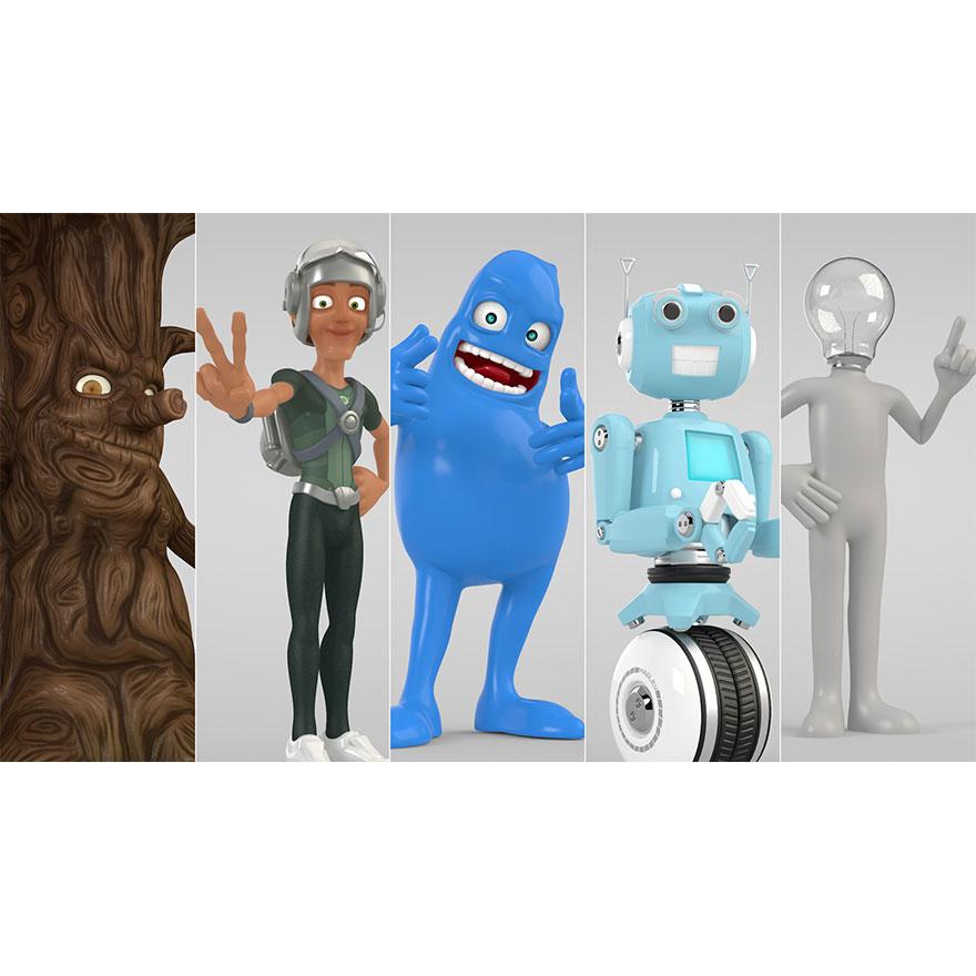 Pixel Lab Cinema 4D Characters Pack - Toolfarm