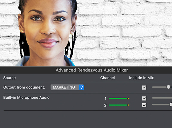 telestream wirecast rendevous audio mixing