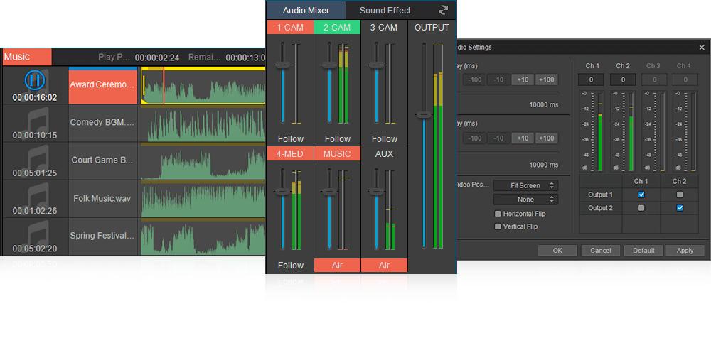 visdom vislive audio management
