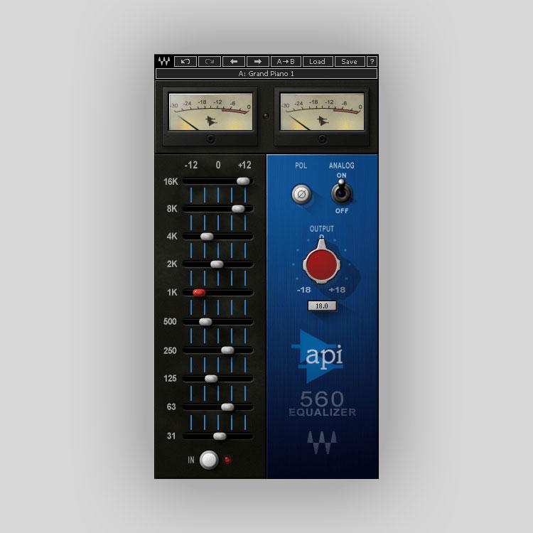 Waves API 560 10-Band Graphic Equalizer, EQ Plugins