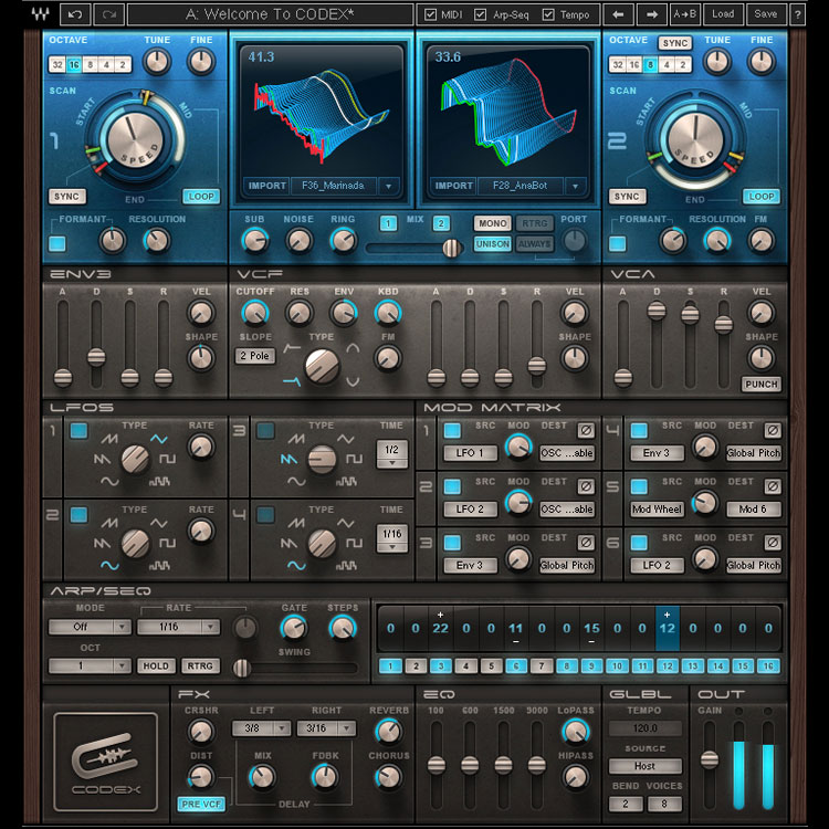 Waves Codex Wavetable Synth - Toolfarm