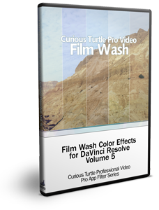 Curious Turtle Film Wash Color Effects for Davinci Resolve Vol. 5