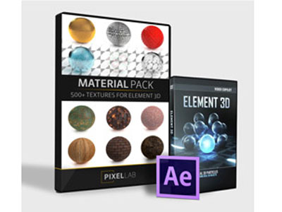 Pixel Lab Material Pack for Element 3D
