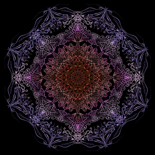 Pattern created with Mandala symmetry. (Artwork designed by Mike Shaw.)