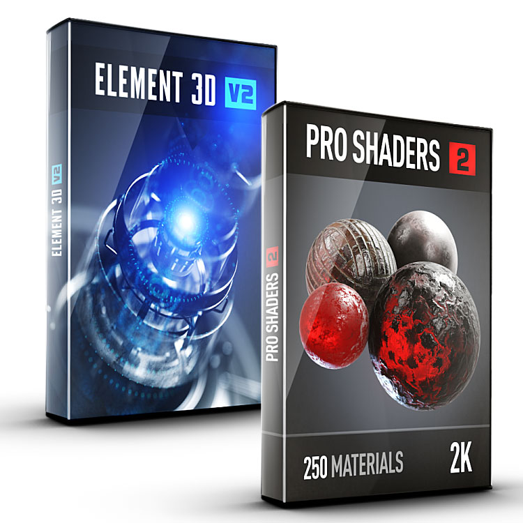 Video Copilot 3D Shader Bundle (Element 3D + Pro Shaders 2)