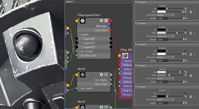 chaos group v-ray next for maya v-ray layerd texture