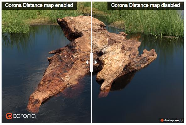 corona distance map
