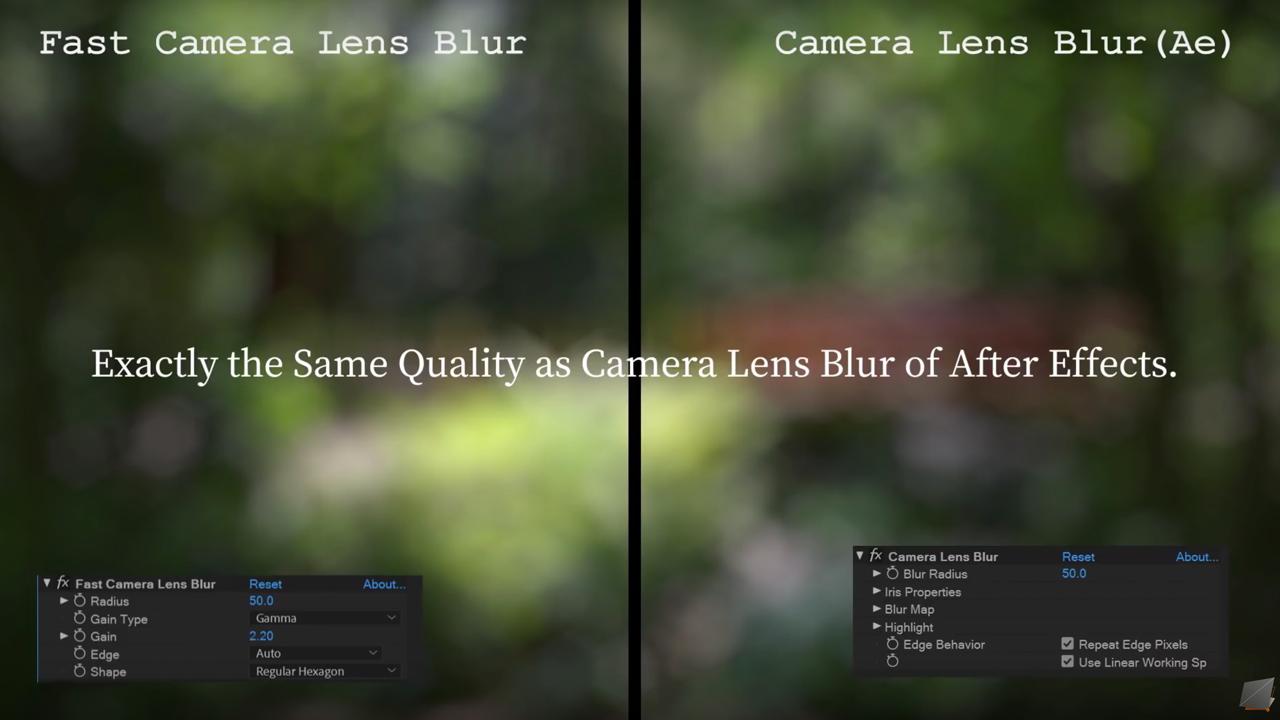 fast camera lens blur