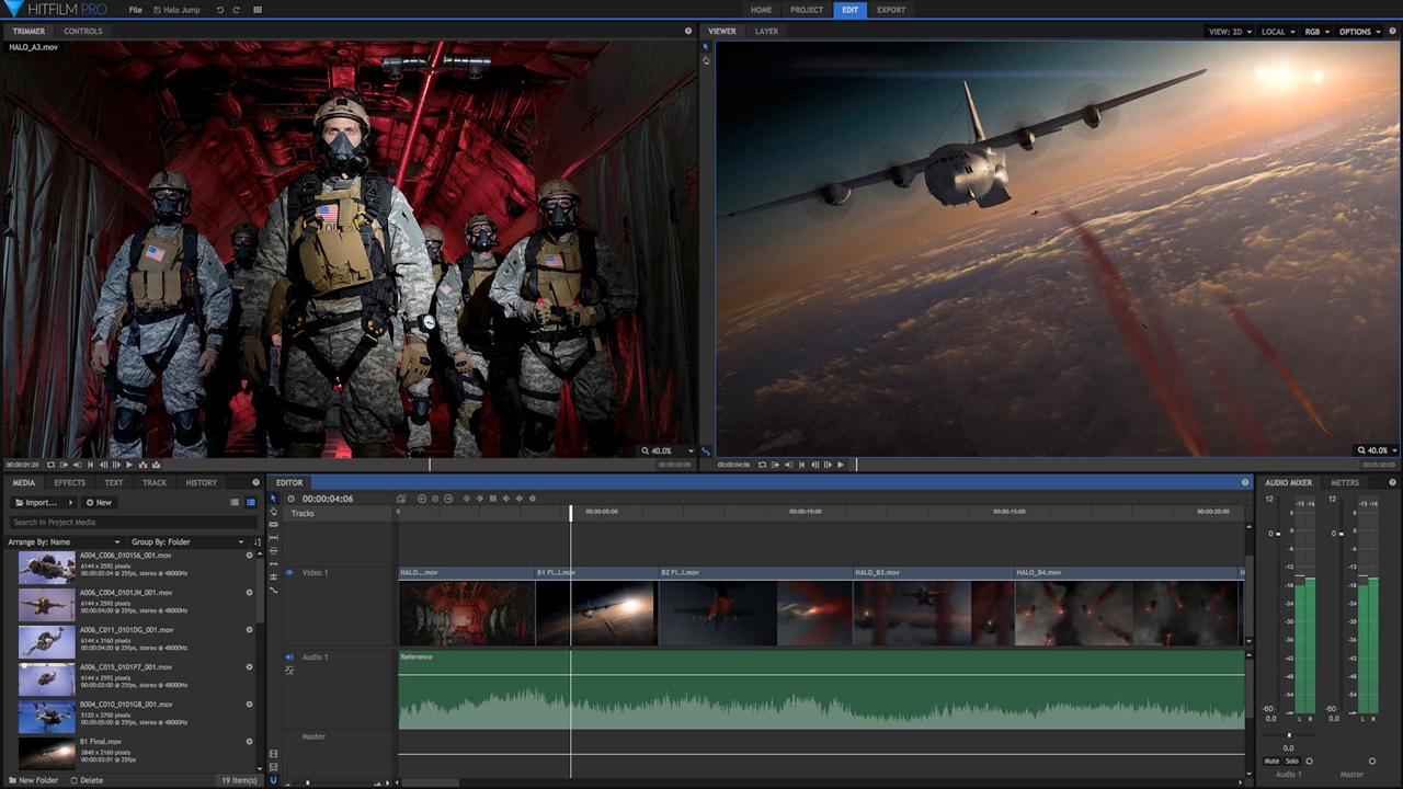 hitfilm pro editing