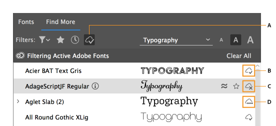 Finding more fonts from Adobe Fonts