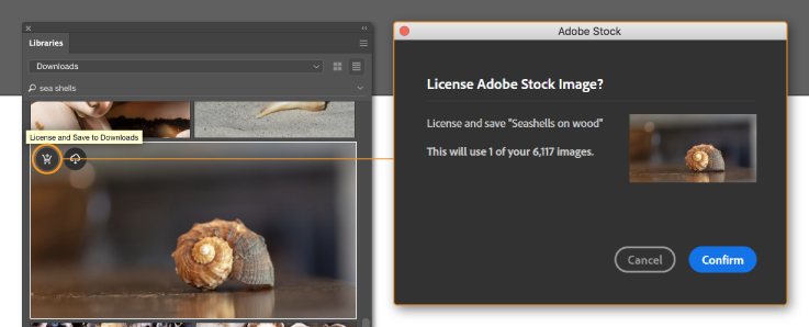 Licensing an Adobe Stock image