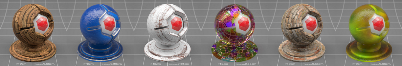pixel lab redshift c4d materials pack examples